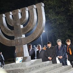 German President at 75th anniversary of German mass murder of Kiev's Jews