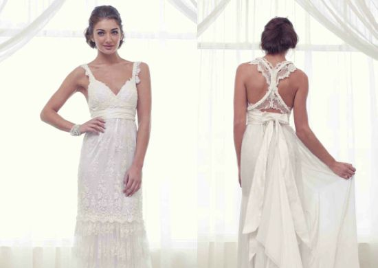 Racer Back Lace Wedding Dress 001 Ideas