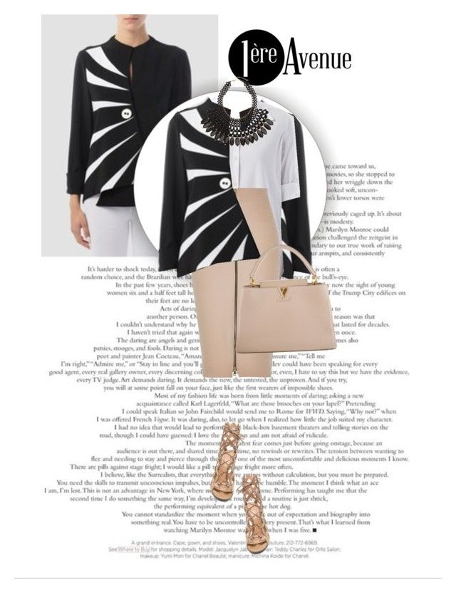 """""""Elegant!"""" by sabinakopic ❤ liked on Polyvore featuring River Island, H&M, Gianvito Rossi, Louis Vuitton and premiereavenue"""
