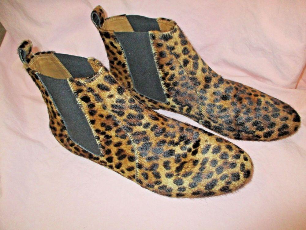 6522bcce0fe Isabel Marant Ankle Boot 40 Dewar Leopard Animal Print Calf Hair Beautiful # IsabelMarant #AnkleBoot