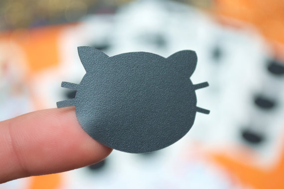 Cat Stickers, Chalkboard Labels, Halloween Decorations,Black Cat