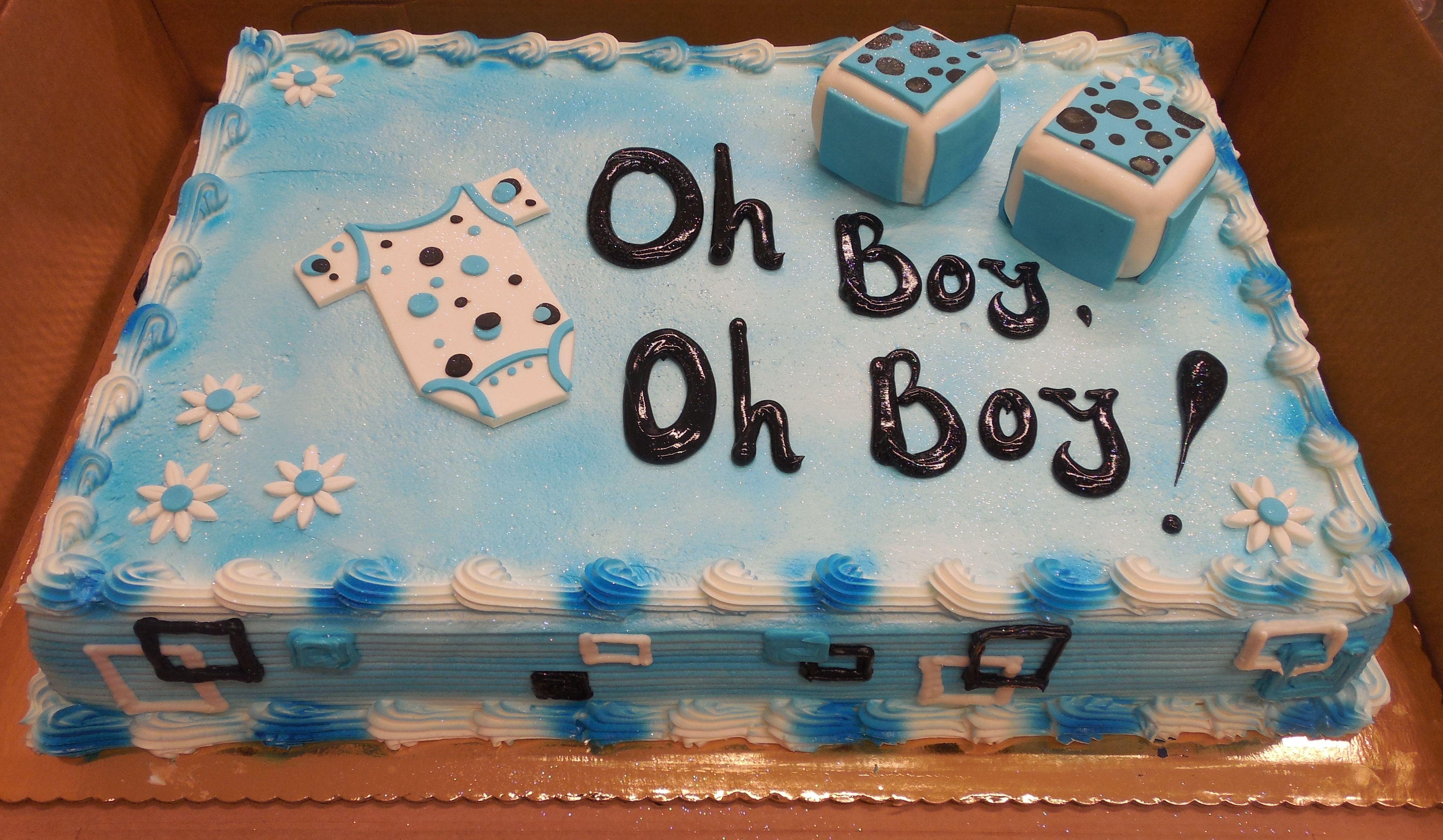 Calumet Bakery Oh Boy Baby Shower Cake Baby Shower Cakes