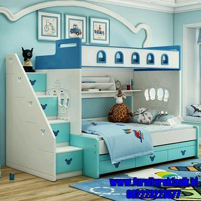 tempat tidur anak tingkat minimalis terbaru   tempat tidur