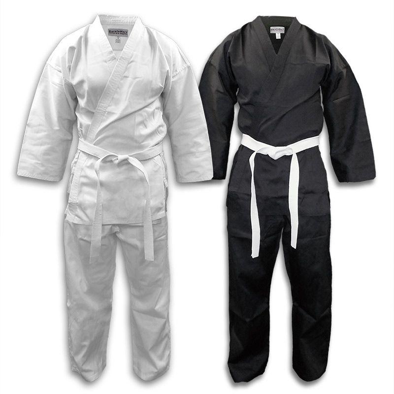 New Karate Uniform SIZE 0 BLACK 7oz Century Martial Art Gi