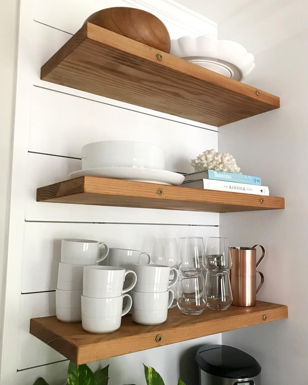 floating kitchen shelves with white dishes on floating shelves kitchen id=57839