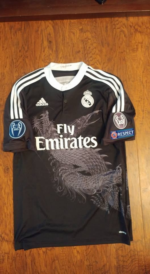 sneakers for cheap 1c379 ea6c0 REAL MADRID CHAMPIONS LEAGUE 2014-15 third black ORIGINAL ...