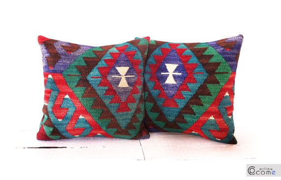 Cushion Cover Kilim Pillow Sham Decorative Throw by pillowcome, $39.00