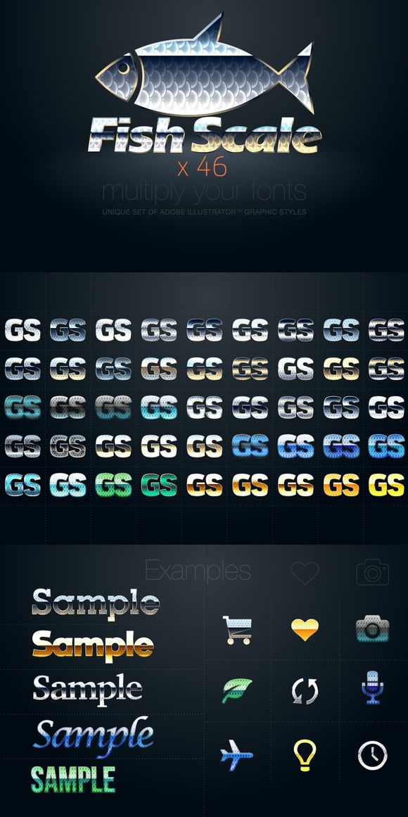Ai Cs5 Graphic Styles Fish Scale Photoshop Layer Styles 1200