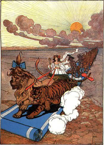 John R Neill S Illustration For Ozma Of Oz Ozma Crossing The Deadly Desert With Her Army Wizard Of Oz Book The Wonderful Wizard Of Oz Illustrators