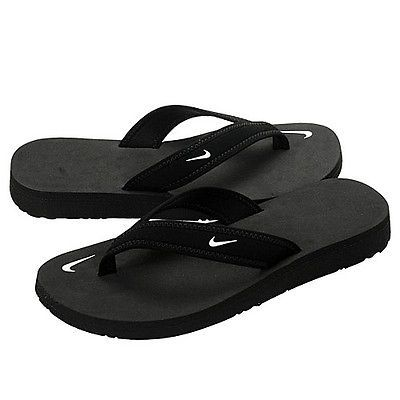 06bf96dba1f3 Nike Celso Girl Thong Wmns 314870-011 Black Sandals Flip Flops Wmns Size 9