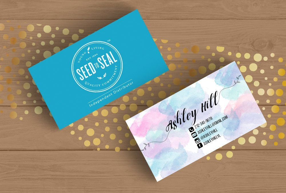 Young Living Business Card Template Layered PSD Template and JPEGs ...