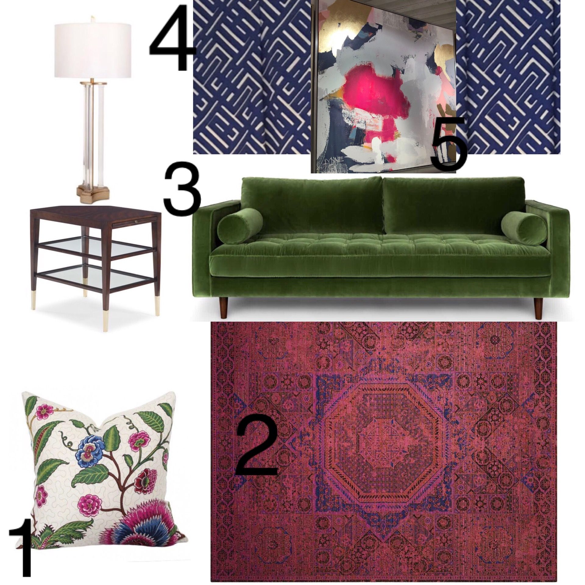 Jewel Tone Living Room