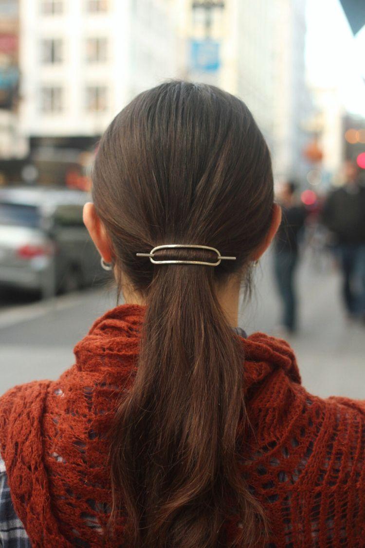Minimalistische Haarspange Oval Pferdeschwanz Hair Hairstyles Kupfer Haare Silberhaar Haarschmuck