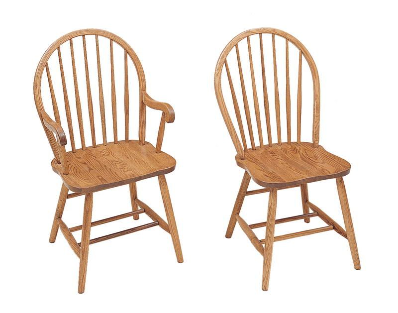 Marvelous Bow Back Arrow Dining Chair By Keystone