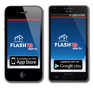 The FLASH Weather Alerts app is available for iPhones and