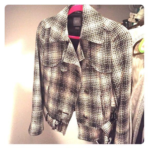 Armani exchange jacket Soft,warm slim fitting beautiful black and white jacket A/X Armani Exchange Jackets & Coats