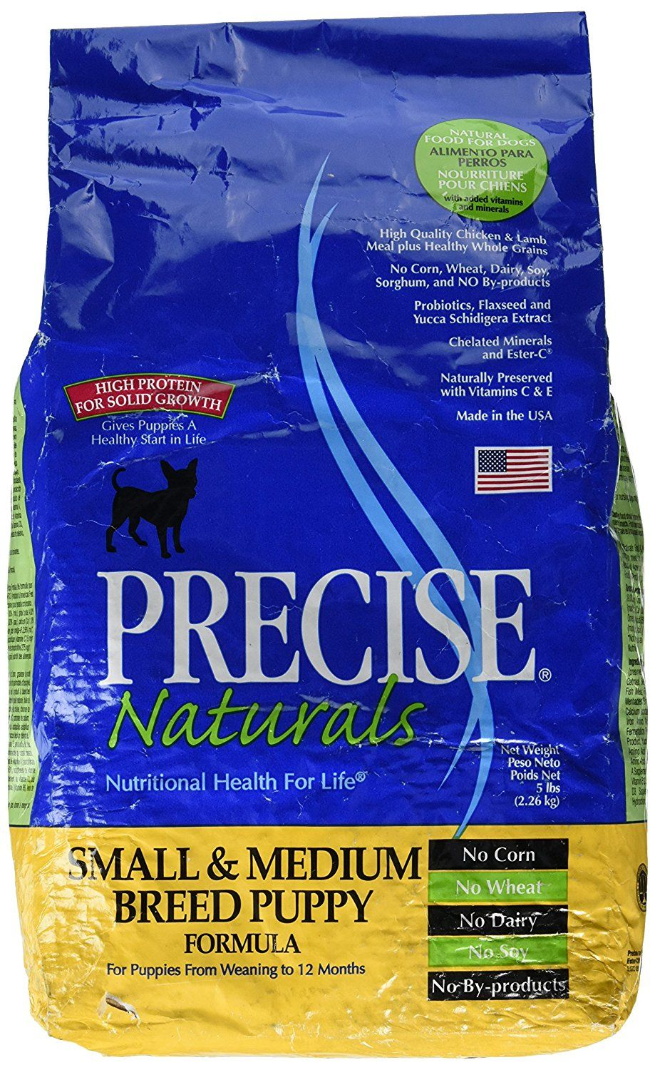 Precise Naturals Small and Medium Breed Puppy Formula Dry Dog Food, 5lb * Check this awesome product by going to the link at the image. (This is an affiliate link) #DogCare