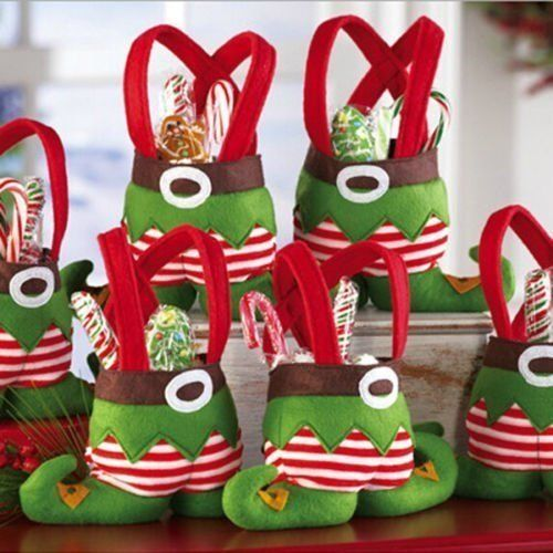 LIHAO Elfe Stiefel Bonbons Süßigkeiten Geschenk Tasche Candy Bag Weihnachten Deko http://www.amazon.de/dp/B016NU2KEE