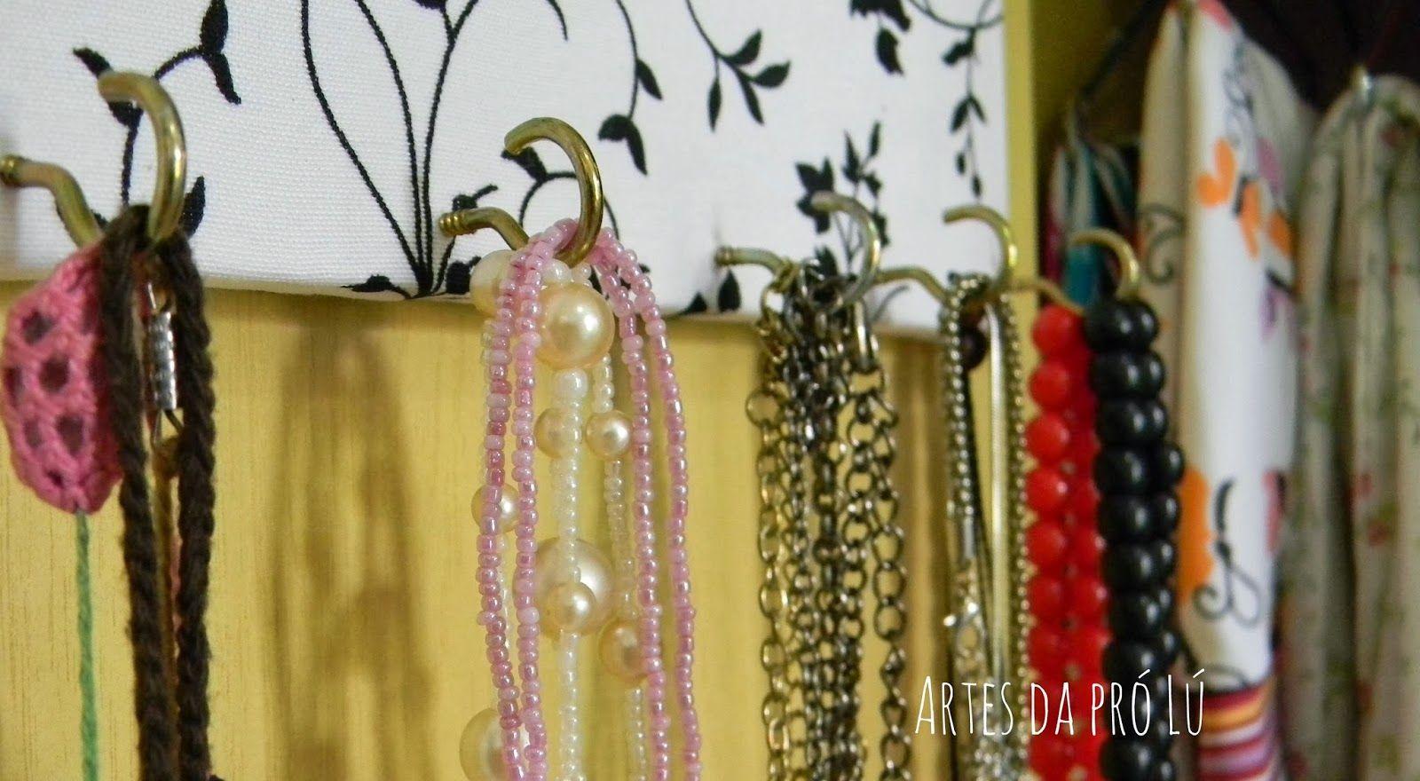 Artes da Pró Lú: Faça você mesma um organizador para colares!