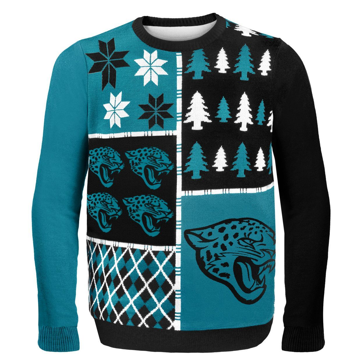 Jacksonville Jaguars Busy Block NFL Ugly Sweater   Products   Pinterest