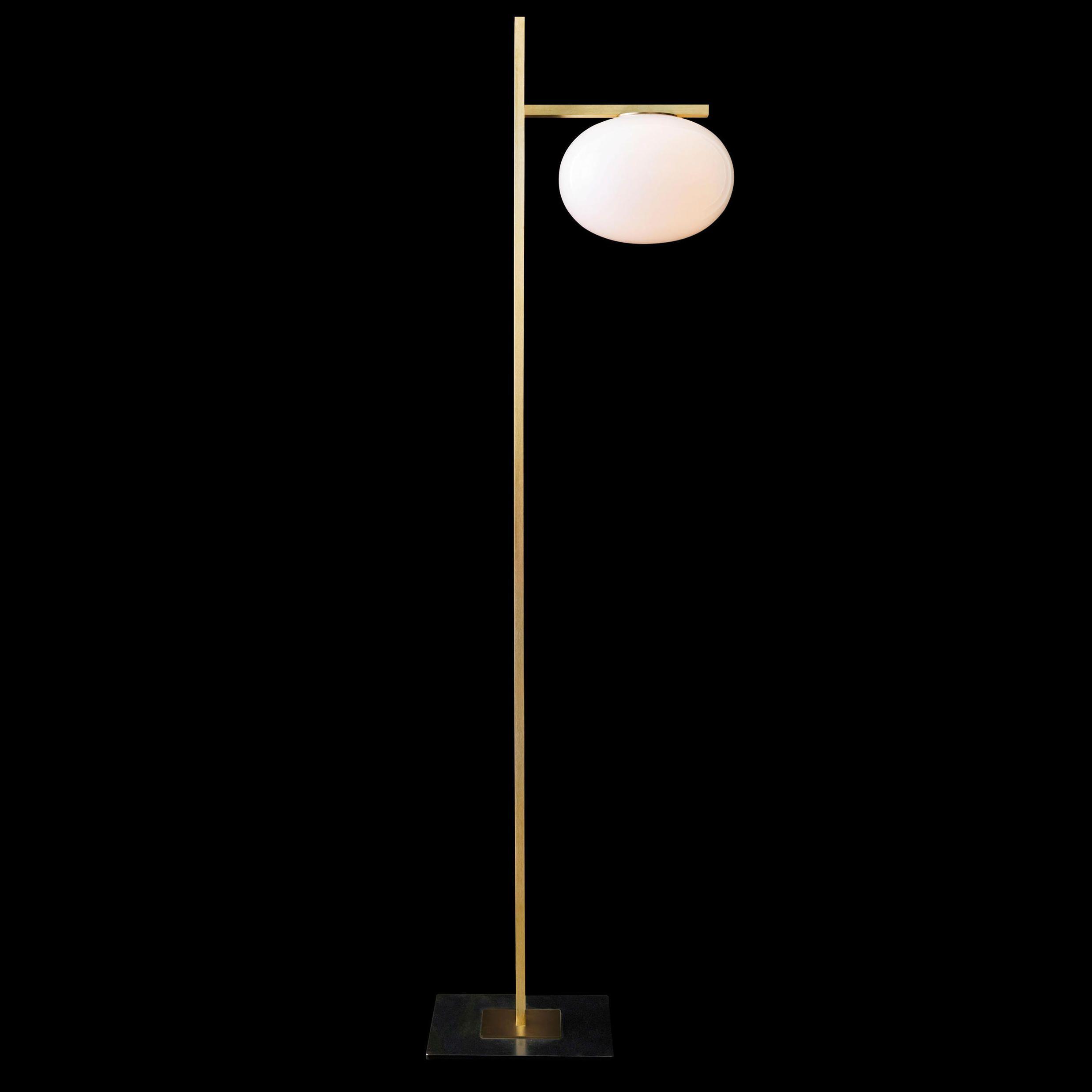 Lampadaire ALBA 382 laiton opale LED ˜28 5cm H161cm OLUCE