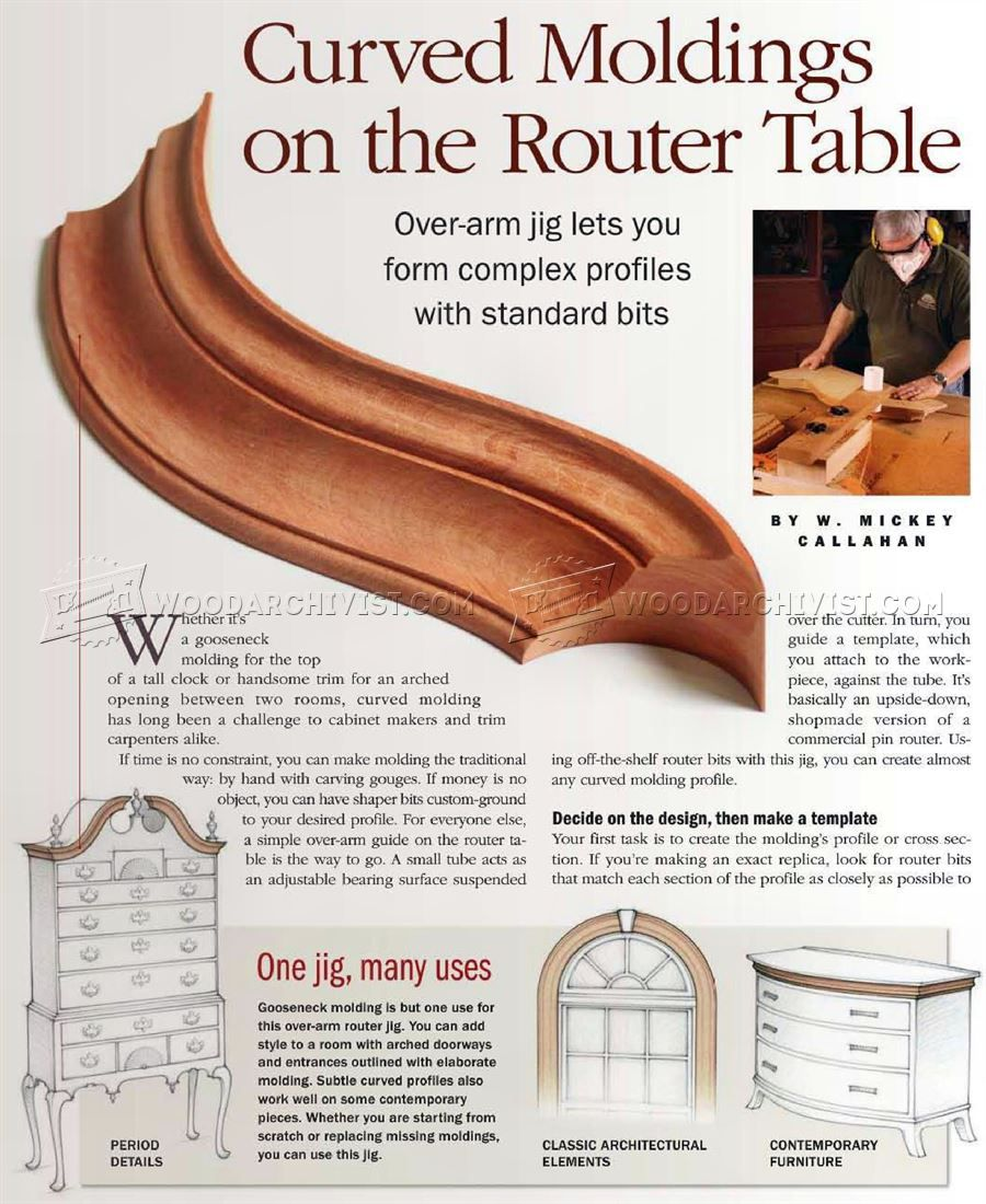 Making Curved Molding Molding Woodworking Finishes Woodworking