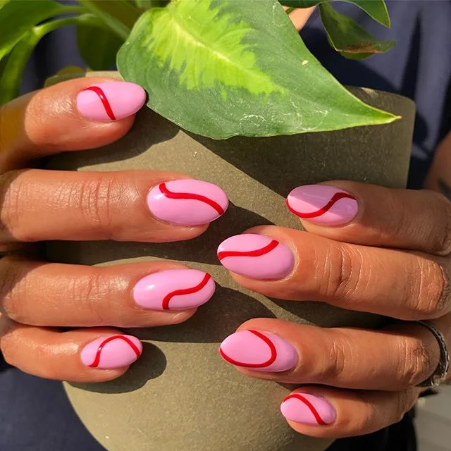Makeup, Beauty, Hair & Skin | One Line Nail Art Is the Latest Minimalist Trend, and Here Are 26 of Our Favourites