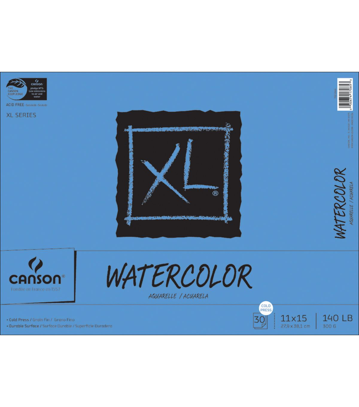 Proart Canson Bound Watercolor Pad 11 X15 30 Sheets 140 Cold