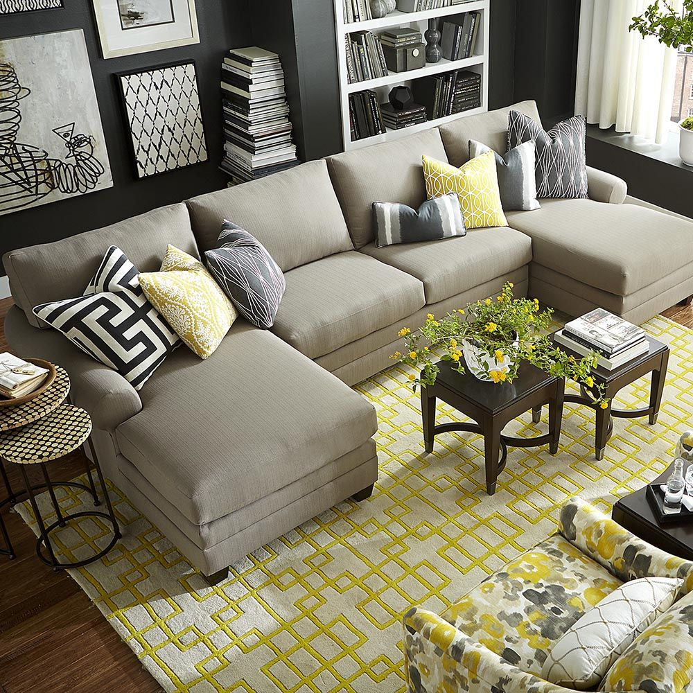 Double Chaise Sectional With Images Living Room Sectional