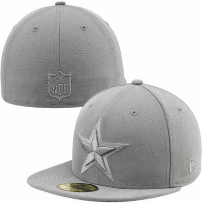 New Era Dallas Cowboys 59FIFTY Basic Fitted Hat - Gray  0cb93ecc9fd