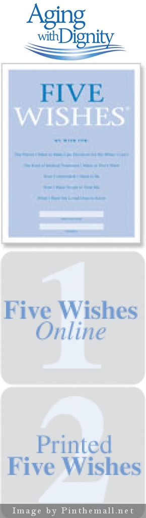 Aging With Dignity Site  Five Wishes Medical Power Of Attorney