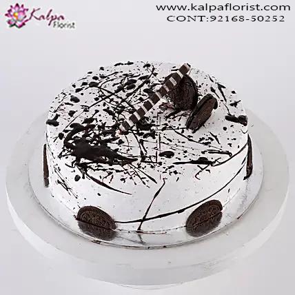 Amazing Heavenly Oreo Cookie Cake 1 Kg Order Cakes Online In Hyderabad Personalised Birthday Cards Veneteletsinfo