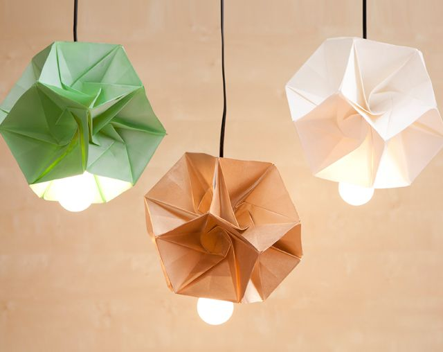 12 awesome diy projects for spring origami light fixture by brit co these modern origami light fixtures will have all your friends thinking you shopped