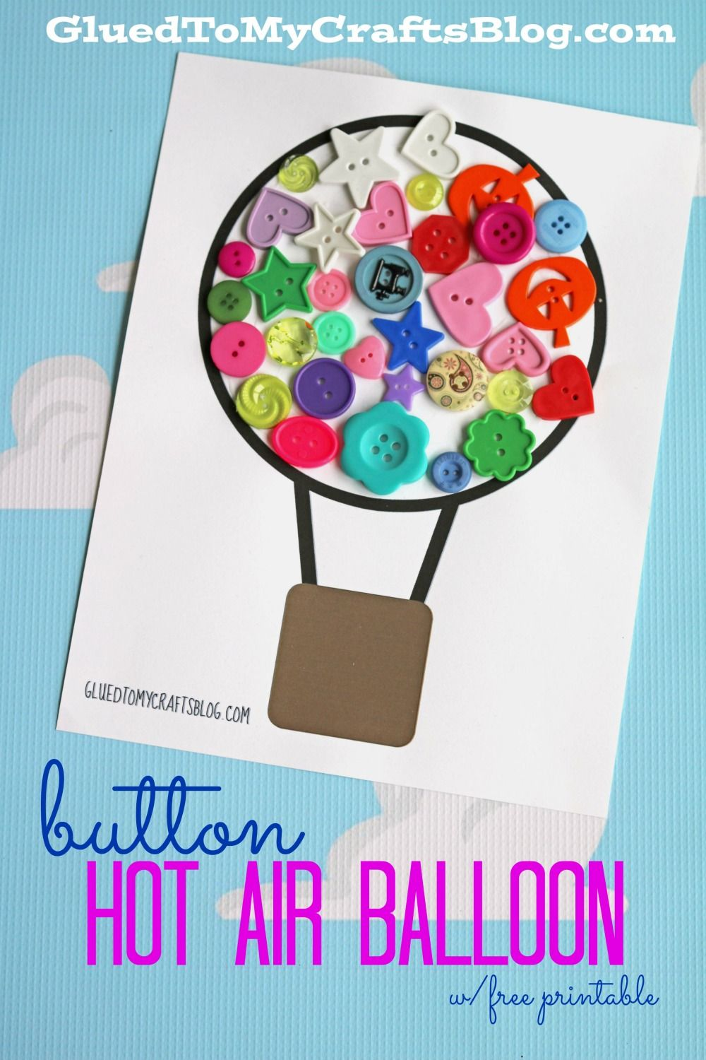 Button Hot Air Balloon Kid Craft Hot air balloon craft