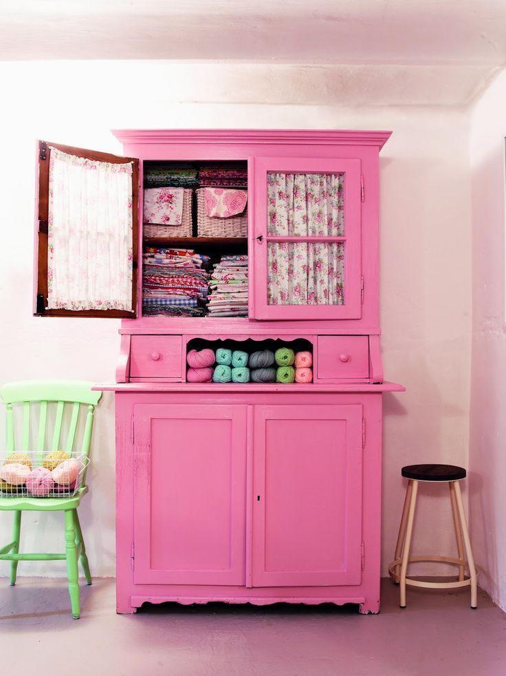 Vintage Ankleidezimmer für Kinderzimmer Rosa möbel