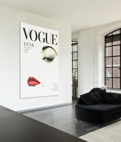 1950 Vogue Cover Canvas Wall Art Print Stretched Canvas Wall Art Vintage Vogue Covers Canvas Art Prints