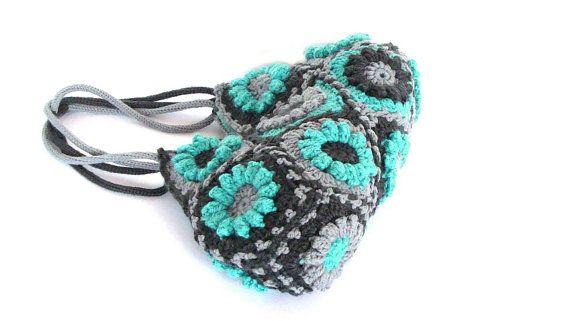 Turquoise flower crochet handbag knitting bag shoulder by zolayka, $85.00  http://www.etsy.com/treasury/OTU3MjA1MnwyNDgzNjAwMzI1/deep