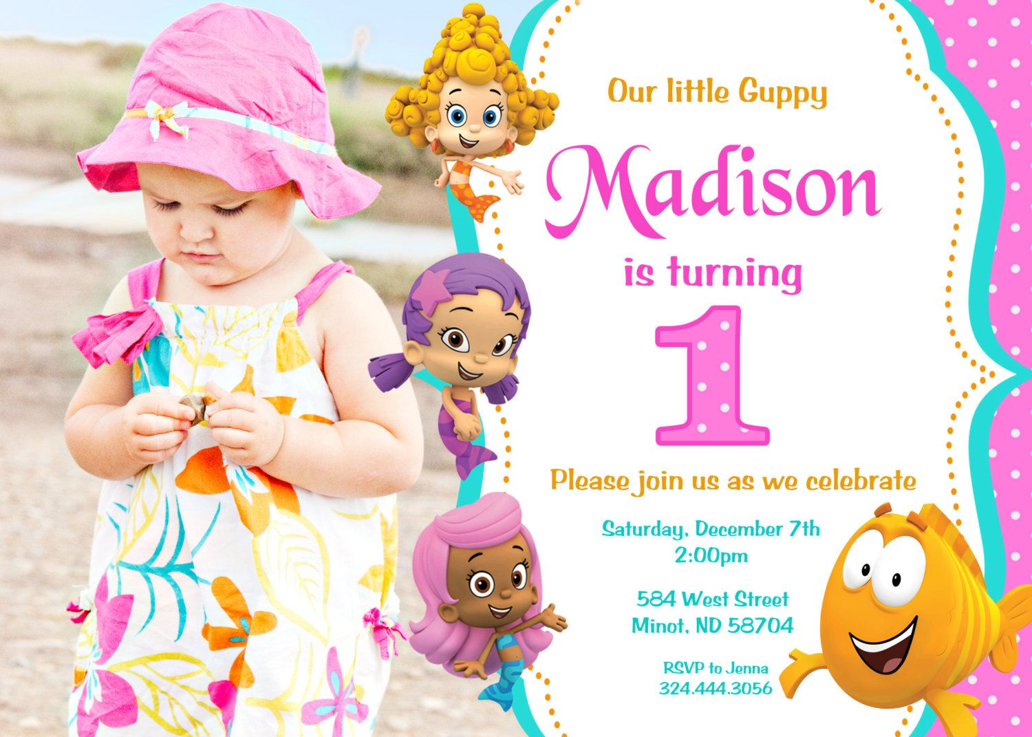 Bubble Guppies Birthday Party Invitation by PrettyPaperPixels, $8.99 ...