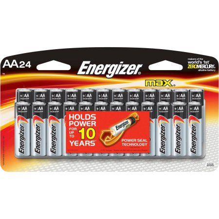 Energizer Max Aa Batteries 24 Pack Double A Alkaline Batteries Walmart Com Energizer Energizer Battery Alkaline Battery