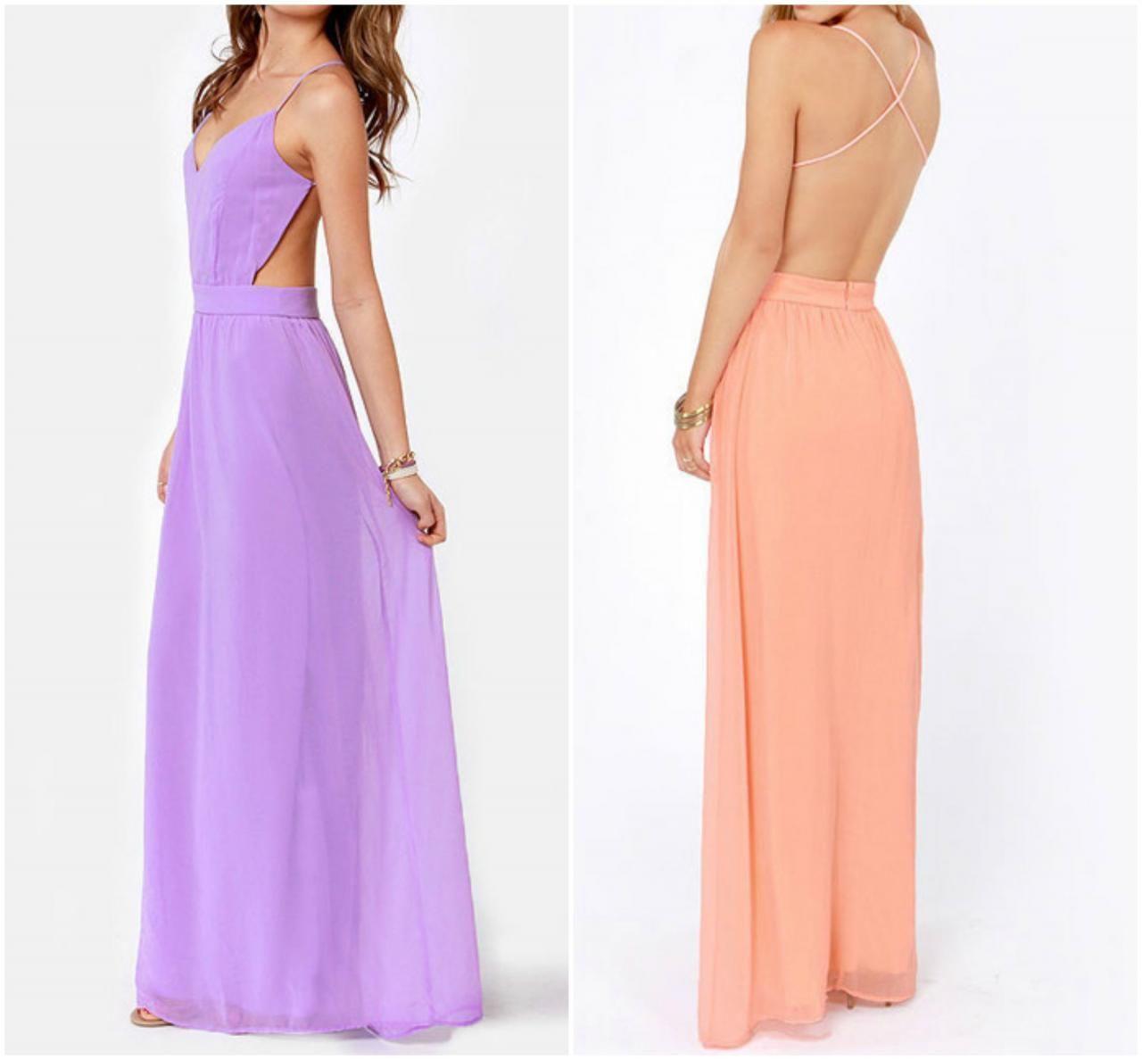 Elegant cross back spaghetti strap in pink and dress in
