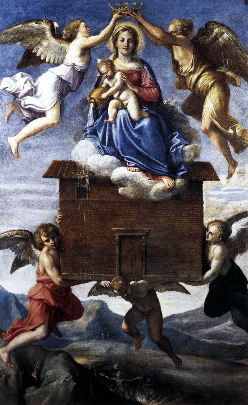 AnnibaleCarracci - Translation of the Holy House (c. 1605).