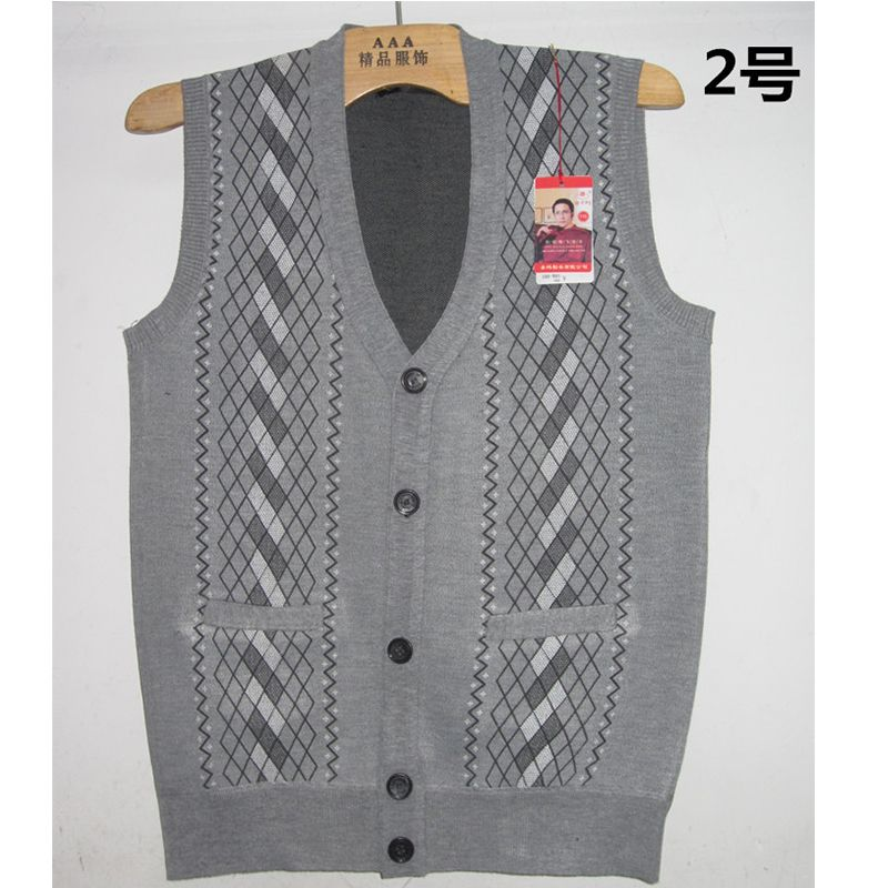XXL Sweater Vest Mens V-Neck Cotton Sleeveless Sweater Single ...