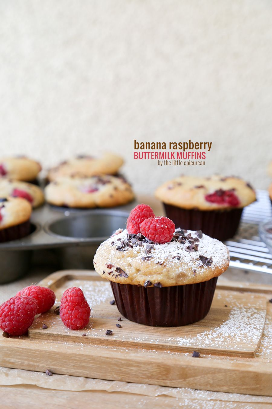 Banana Raspberry Buttermilk Muffins How Sweet Eats Breakfast Dessert Delicious Desserts