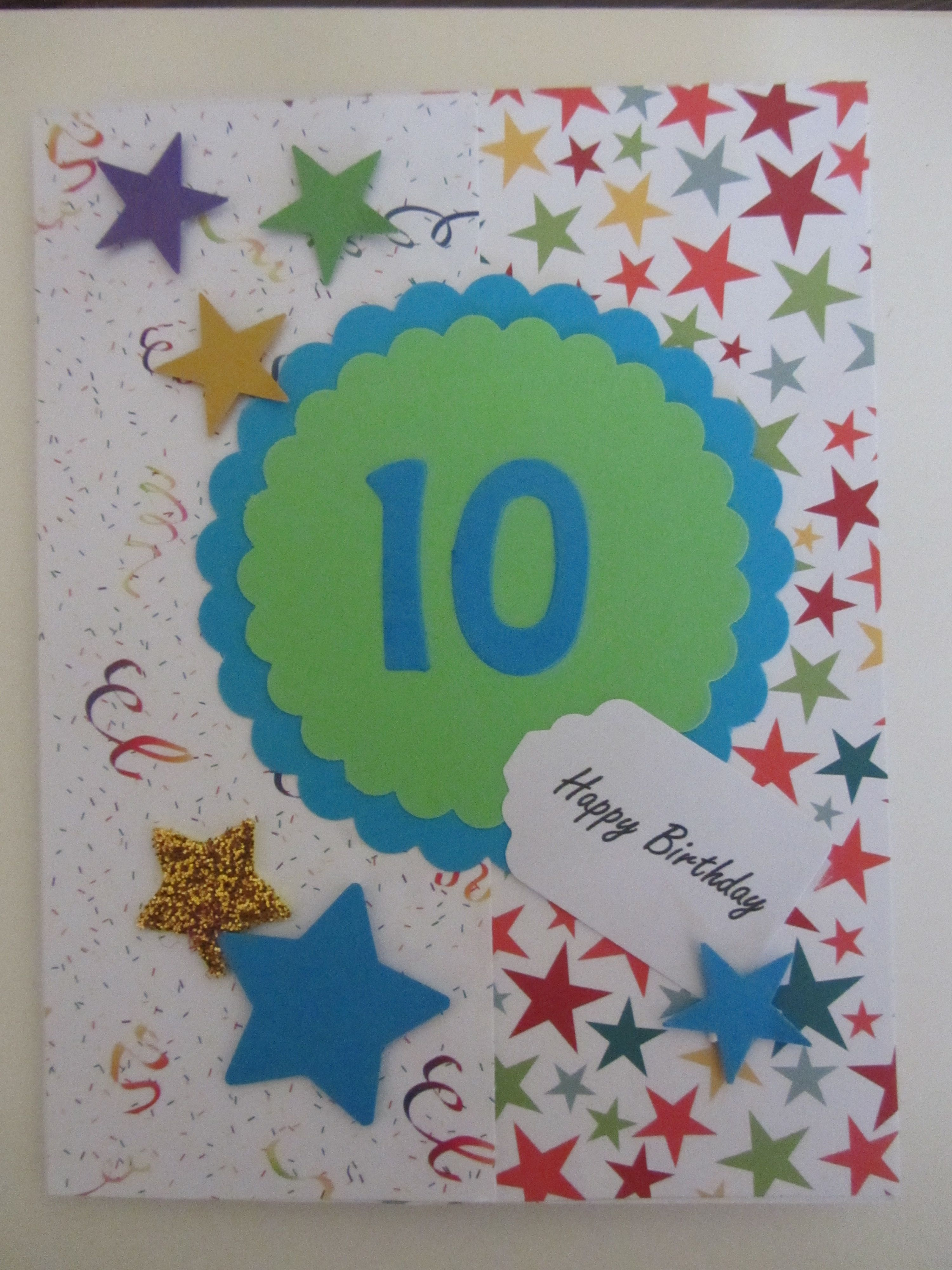Birthday Card For 10 Year Old Cards Pinterest 10 Years