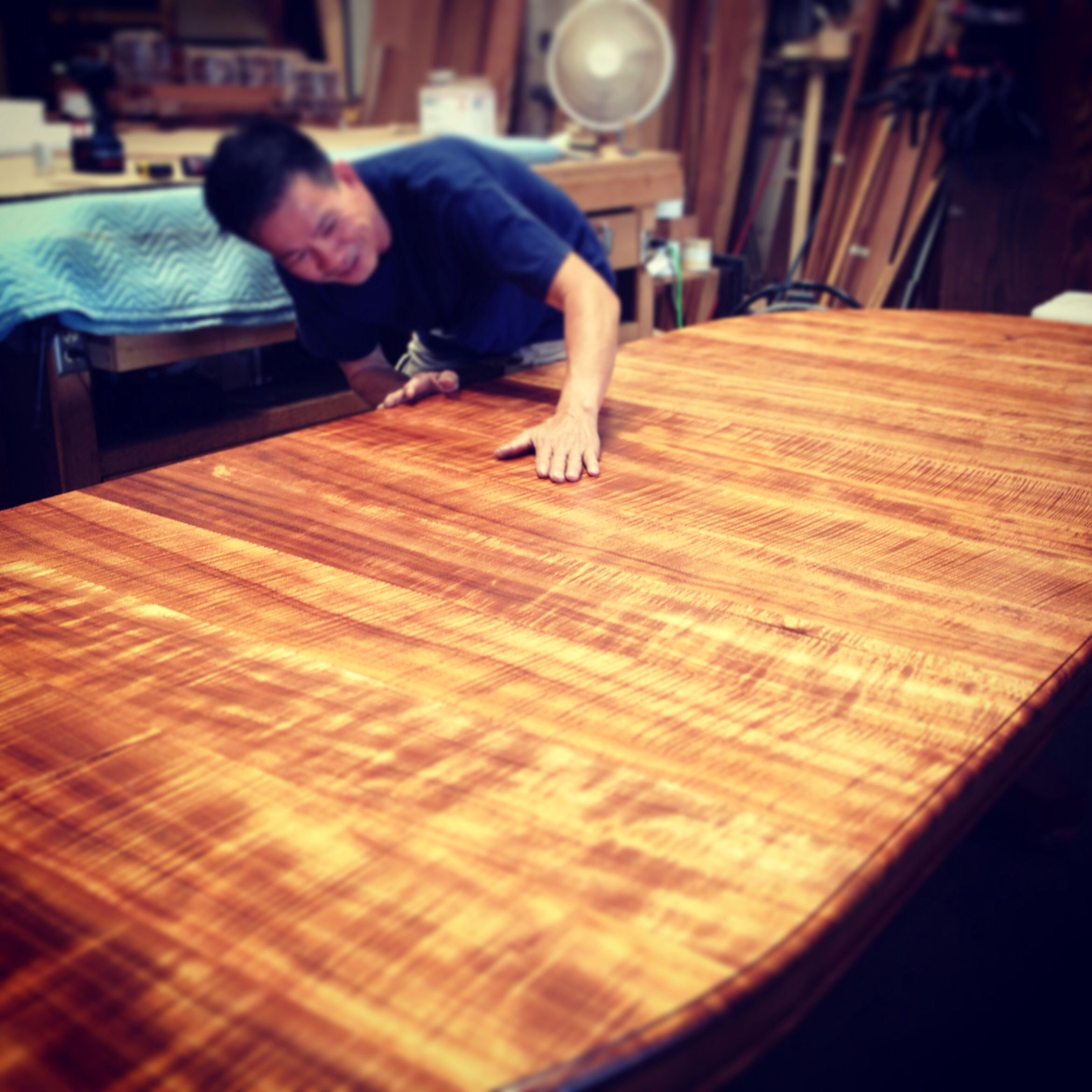 Gorgeous Curly Koa Dining Table Just Completed By Our Master