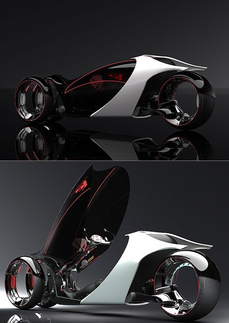 """trike /// typically more than 95% of a car's energy is used just to move itself, The Carless Class is defined by eliminating this old fashioned """"car equation."""" Vehicles in The Carless Class still have a full fairing but often just 3 wheels, some have pedal power and most have electric assist."""