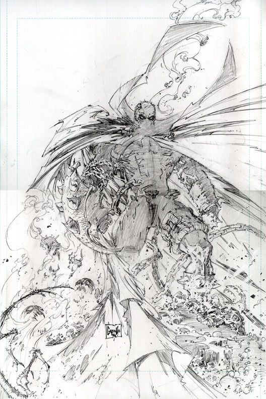 Greg Capullo Future Spawn Cover 2 Pencils Cool Drawings Greg