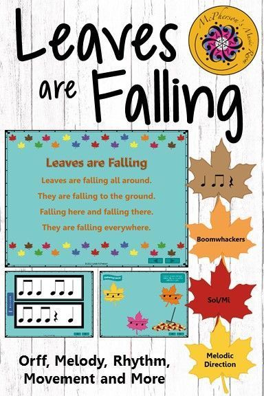 Leaves Are Falling Orff Melody Rhythm Instruments And Movement