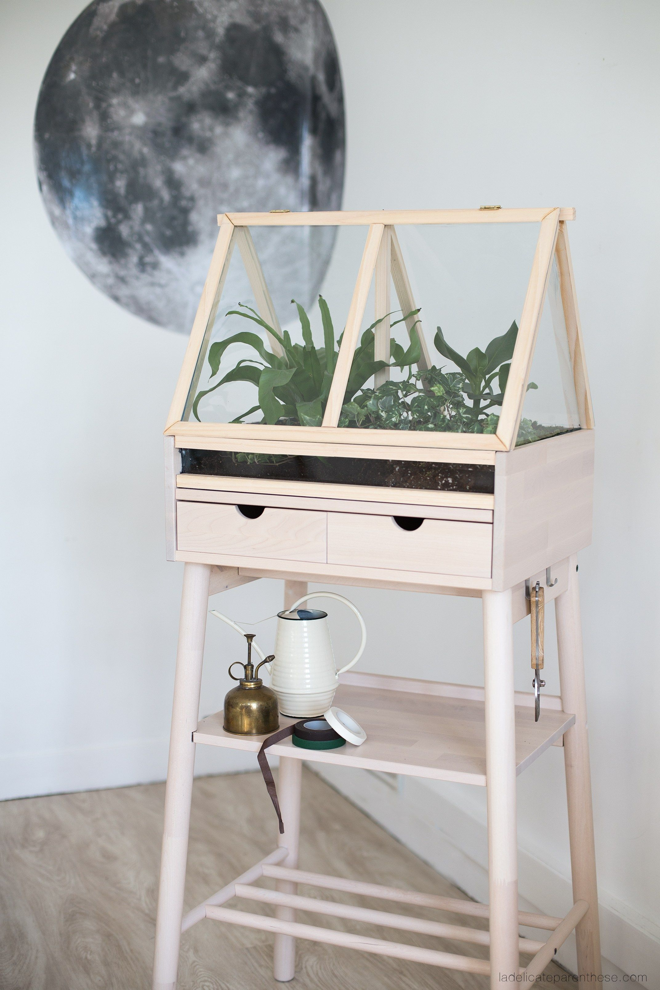 diy ] créez une serre d'intérieure en détournant un meuble ikea