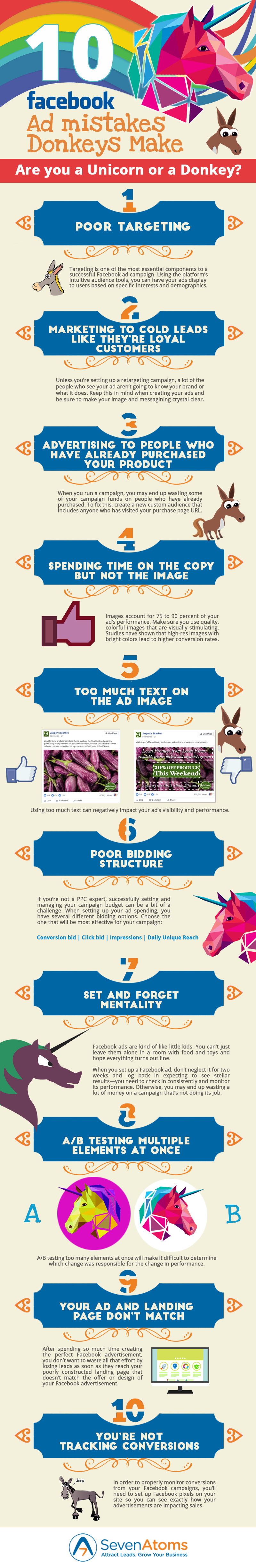 10 Facebook Ad Mistakes That Donkeys Make [INFOGRAPHIC]